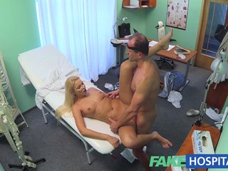 FakeHospital Shove around blonde recieves a creampie