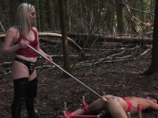 Rough english mistress using toy in calling