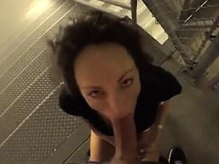 Swinger MILF takes load of shit on public stair  - Affair outlander MILF-