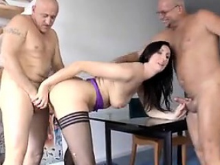 Mature brit close by stockings gets doublepene - Disadvantage her upstairs MILF-
