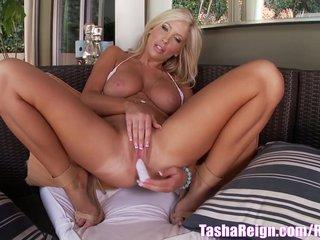 Tasha Reign Teases in Bikini & Masturbates!