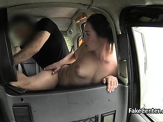 Fresh milf fucks for free taxi-cub ride