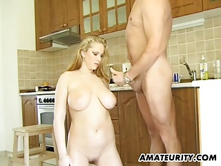 Order about tiro Milf gives junkie in her kitchenette