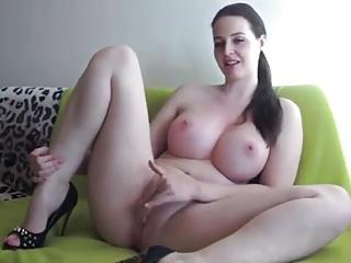 Beamy boobs brunette