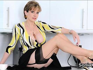 Unfaithful british mature nipper sonia flaunts her massive bre