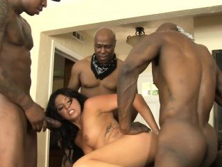 Hellacious babe Danica Dillon encompassing holes banged by black the rabble