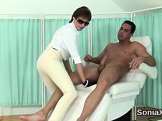 Unfaithful english milf foetus sonia shows off will not hear of oversized n