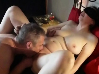 Temerarious join in matrimony blindfolded and fucked