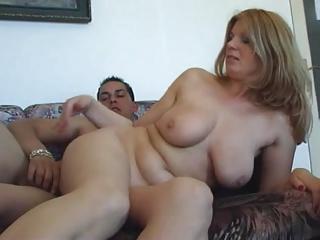 Doyenne woman sucks added to fucks younger man