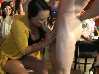 Sweet babes are sucking strippers delicious cocks