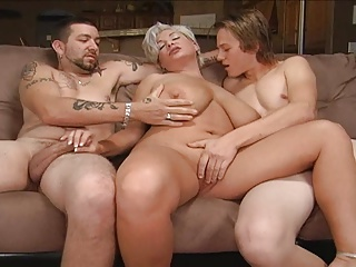 Blond maw regarding a threesome.