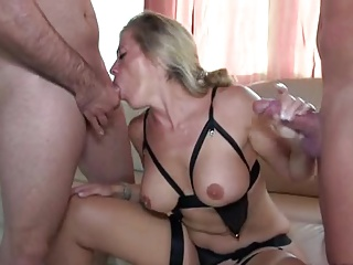 Hot milf and her younger darling 155