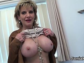 Faithless british milf foetus sonia showcases her heavy tits