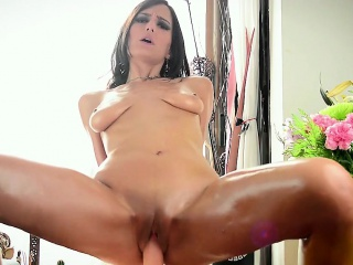 oiled beside with the addition of cumming on my dildo