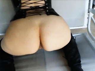 Slutty crude MILF loves BDSM sexual intercourse