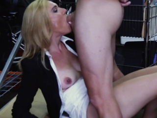 Pawnshop milf fucked and cocksucks for money