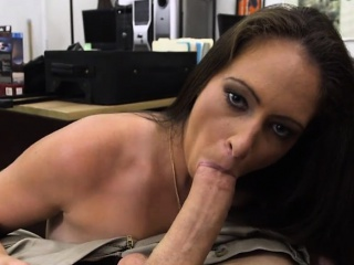 Ex dominatrix screwed by horny tooth guy in his pawnshop