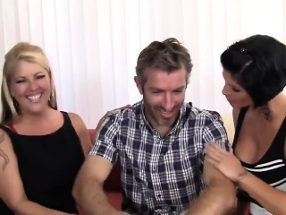 3 naughty MILFs win gather up to devour a big physically