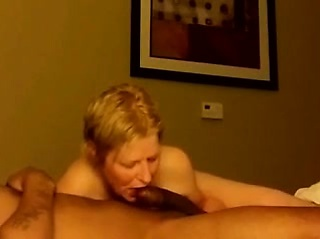 Snappish haired blonde milf has a hung black stud banging her