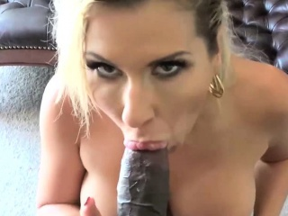 Curvy fair-haired enjoys getting fucked by a black bloke