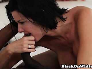 BBC doting MILF enjoying anal stance