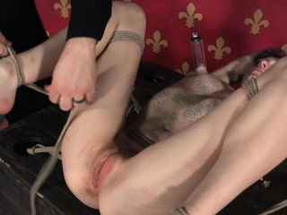 Roped submissive tormented with tt increased by nt