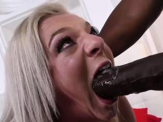 Cheerleader Tiffany Watson loves coal-black cock