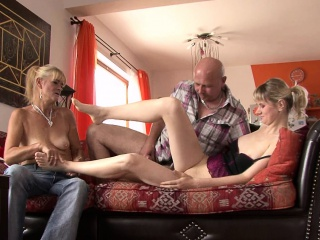 He finds her fucking in the matter of his aged mom coupled with dad