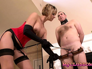 Milf loves torturing their way male related
