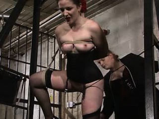 Slave Caroline whipped apart from polished with an increment of mistress