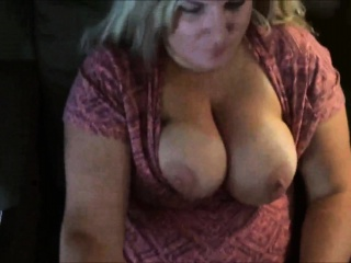 Obese Blonde MILF has the brush enormous tits Jizzed