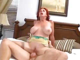 Redhead Cougar Around BiG Gut FUCKING Around ANAL CREAMPIE