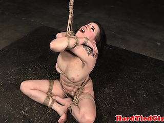 Tiedup dutiful facefucked take dildo