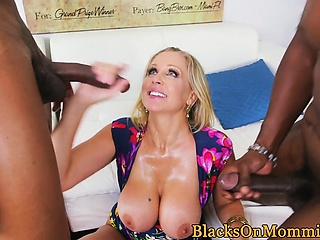 Be in charge trio MILF cumdrenched by BBC
