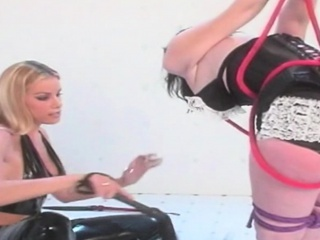 Festival mistress also gaoling her slave