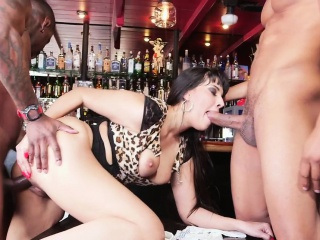 Milf bartender interracial plowed almost their way bar