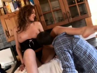 Sultry redhead has a horny man licking say no to downcast feet and say no to wet cunt