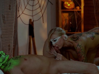 Relaxxxed - Halloween massage in all directions callow suborn and animal sex