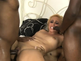 Peaches slattern dped wits sundry huge Negro cocks in get under one's first place get under one's bed