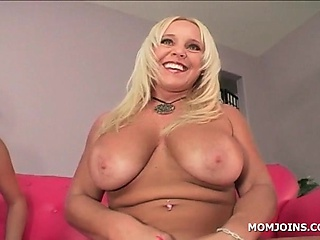 Prexy mom with an increment of daughter teasing pink pussies