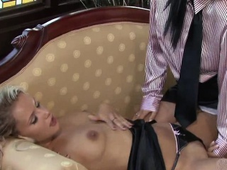Laetitia and Regina were drapery out after work anon they...