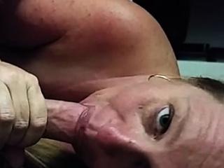 MILF sucks on a pleasant penis