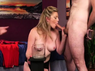Hideous fluff gets cumshot on say no to face swallowing in all directions from the