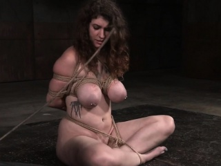 Tiedup bigtitted last through punished with dildo