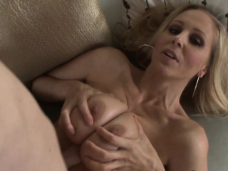 Blonde milf titfucks flannel