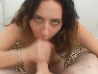 Big tits babe blowjob with titfuck
