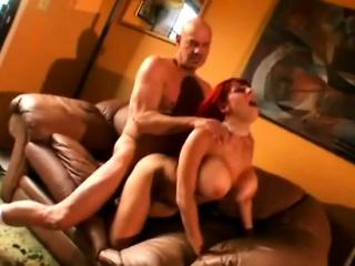 Bosomy redhead MILF gets banged hard from behind