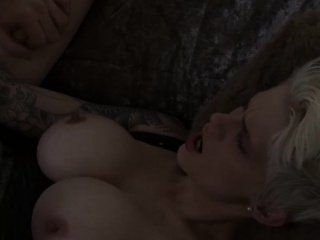Unexpected hair light-complexioned wife in the air big juggs gets will not hear of shaved pussy