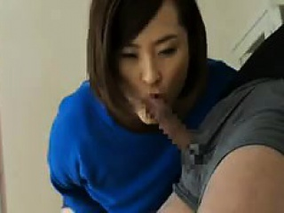 Underhanded wife shows off the brush spot on target breast and then chews on his me