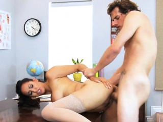 Big Confidential Instructor Fucked Unaffected by Classroom  Writing-desk Isis Love